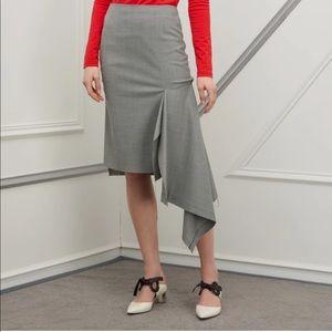 Balenciaga Godet Prince of Wales Check Skirt
